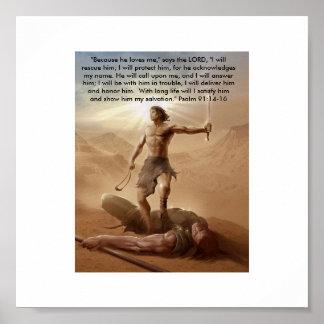 David and Goliath by:David Gudishvili Poster
