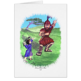 DAVID AND GOLIATH CARD
