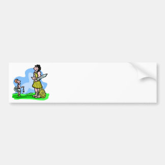 David and Goliath Christian artwork Bumper Sticker