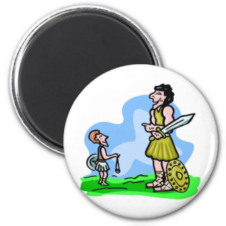 David and Goliath Christian artwork Magnet