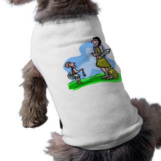 David and Goliath Christian artwork Pet T-shirt