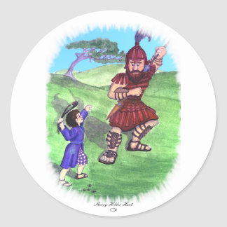 DAVID AND GOLIATH CLASSIC ROUND STICKER