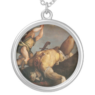 David and Goliath Collar Plateado