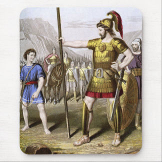 David and Goliath Mouse Pad
