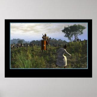 David and Goliath - ningún subtítulo Póster