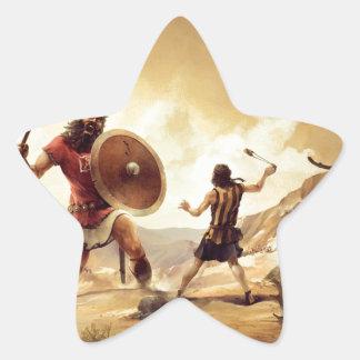 David and Goliath Pegatina En Forma De Estrella
