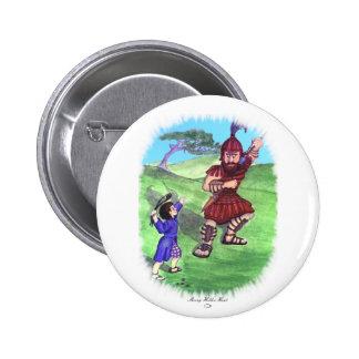 DAVID AND GOLIATH PIN REDONDO 5 CM