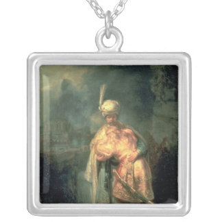 David and Jonathan, 1642 Square Pendant Necklace