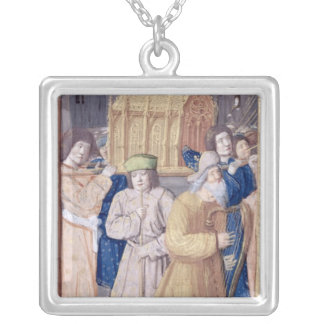 David and the Ark of the Covenant Silver Plated Necklace