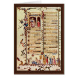 David Before Saul By Pucelles Jean  (Best Quality) Greeting Card