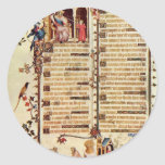 David Before Saul By Pucelles Jean  (Best Quality) Round Stickers