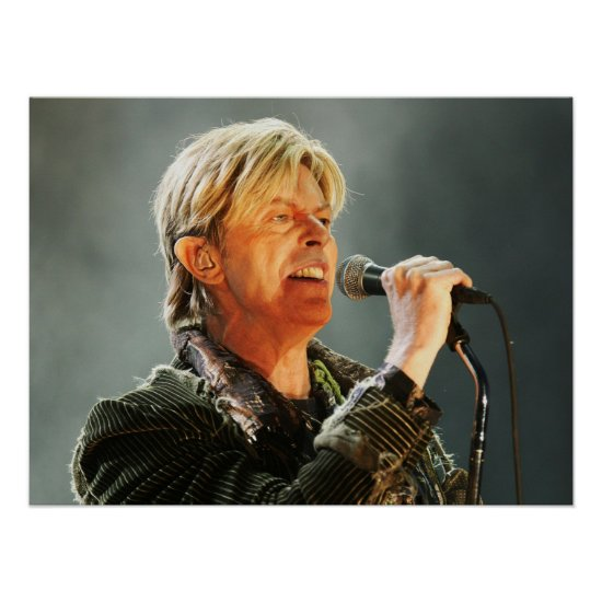 David Bowie   At The Nokia Isle of Wight Festival Poster