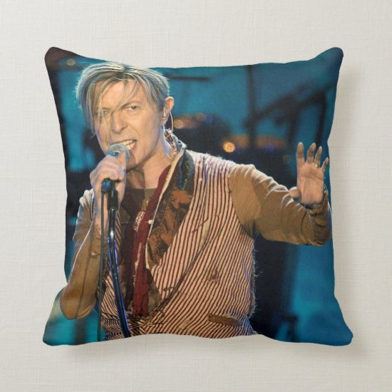 David Bowie | Manchester England Throw Pillow