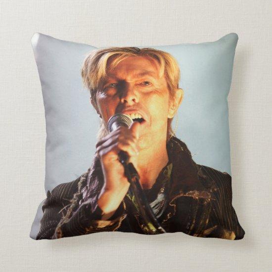 David Bowie   Newport, England Throw Pillow
