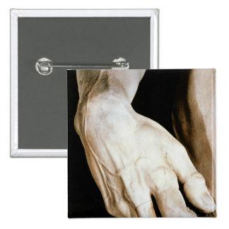 David by Michelangelo Buonarroti , 1501-04 Pinback Button