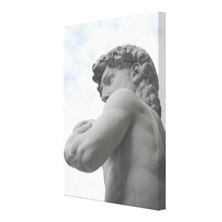 David by Michelangelo (Detail) Wrapped Canvas Stretched Canvas Print