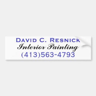 David C. Resnick, pintura interior Pegatina Para Auto