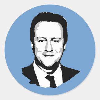 David Cameron Pegatina Redonda