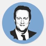 David Cameron Pegatinas Redondas