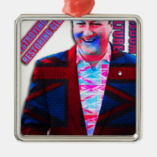 David Cameron Psychedelic Metal Ornament