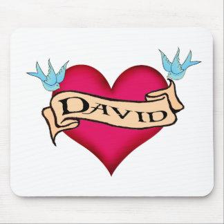 David - camisetas y regalos de encargo del tatuaje alfombrilla de ratones