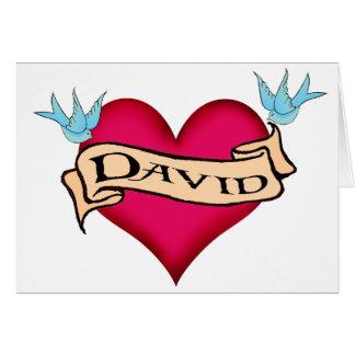 David - camisetas y regalos de encargo del tatuaje tarjeta de felicitación