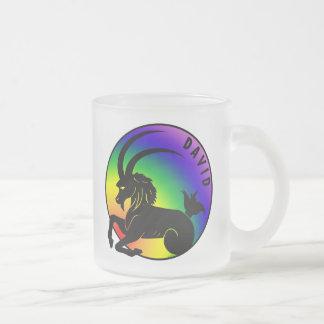 David Capricorn GLBT Frosted Glass Coffee Mug