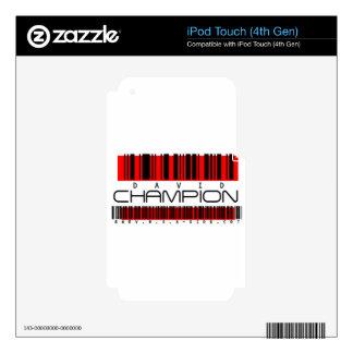 DAVID CHAMPION iPod TOUCH 4G SKIN