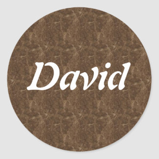 David Classic Round Sticker