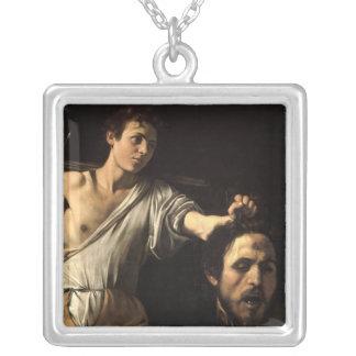 David con la cabeza de Goliat, Caravaggio Colgante Cuadrado