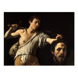 David con la cabeza de Goliat, Caravaggio Postal