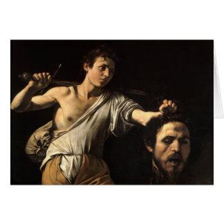 David con la cabeza de Goliat, Caravaggio Tarjeta De Felicitación