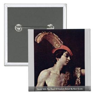 David con la cabeza de Goliat de Reni Guido Pin Cuadrada 5 Cm