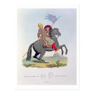 David, conde de Huntingdon (1084-1153) 1120, engra Postales