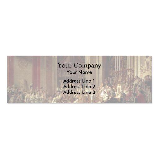 David-Consagración y coronación de Jacques Tarjetas De Visita