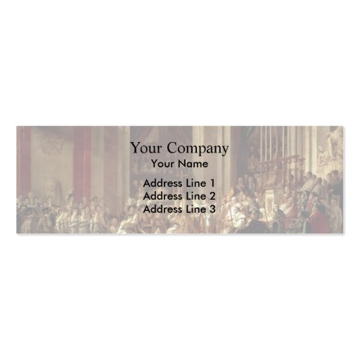 David-Consagración y coronación de Jacques Plantillas De Tarjeta De Negocio