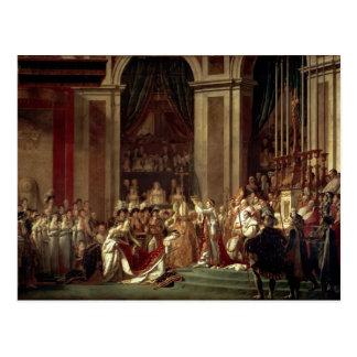 David-Consagración y coronación de Jacques Tarjeta Postal