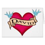 David - Custom Heart Tattoo T-shirts & Gifts Cards