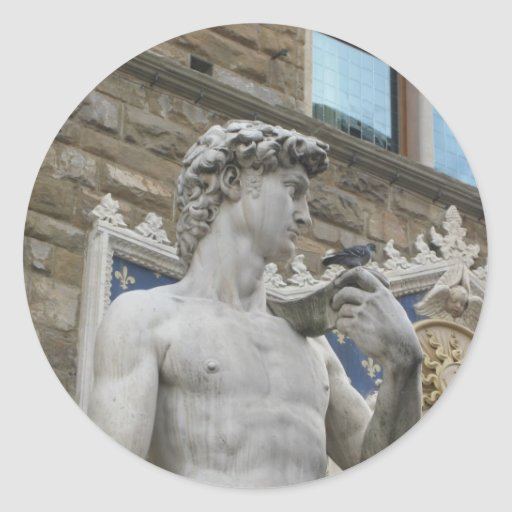 David de Miguel Ángel, Florencia Italia Pegatina Redonda