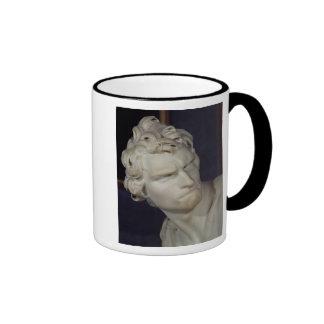 David, detail of the head, 1623-23 ringer coffee mug