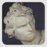 David, detalle de la cabeza, 1623-23 colcomanias cuadradases