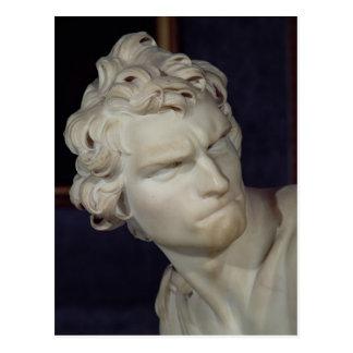 David, detalle de la cabeza, 1623-23 tarjeta postal