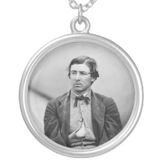 David E. Herold Lincoln Assassination Conspirator Silver Plated Necklace
