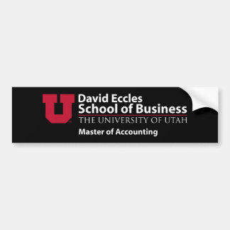 David Eccles - amo de la contabilidad Pegatina Para Auto