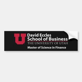 David Eccles - master en ciencias en finanzas Pegatina Para Auto