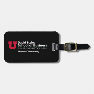 David Eccles - Master of Accounting Tag For Luggage