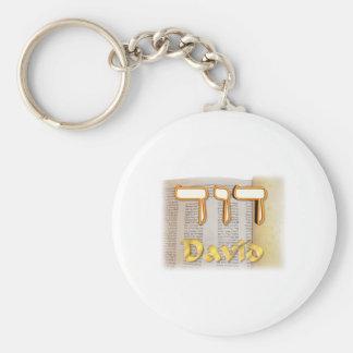 David en hebreo llaveros personalizados