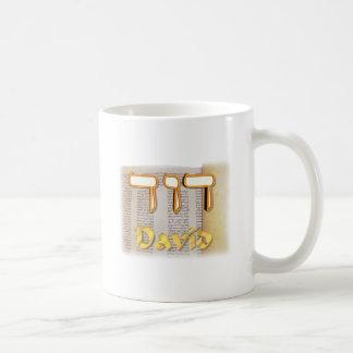 David en hebreo taza clásica