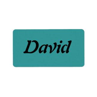 David Etiquetas De Dirección