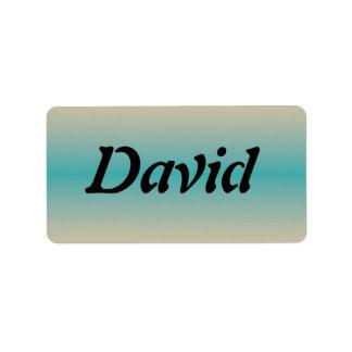 David Etiqueta De Dirección